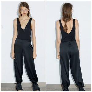 Zara Black Bodysuit with Straps
